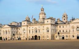 Whitehall, Koninklijke Paardwacht Palace Londen, het UK stock afbeelding