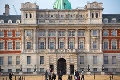 Whitehall, Koninklijke Paardwacht Palace Londen, het UK stock fotografie