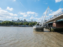 Whitehall, London, from across the Thames, near Jubilee Bridges Royalty Free Stock Image