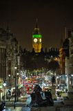 Whitehall, regardant à grand Ben Londres, l'Angleterre, R-U Image stock