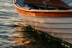 Whitehall row boat. In the water Stock Photo