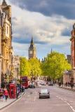 Whitehall sreet在伦敦 免版税库存图片