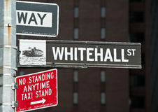 Whitehall street New York Stock Photos