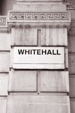 Whitehall Street Sign, London Royalty Free Stock Photo