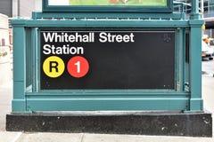 Whitehall Street Subway Station Royalty Free Stock Photo