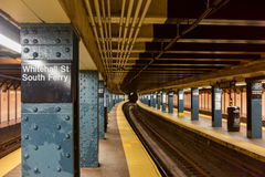 Whitehall Street Subway Station Stock Photography