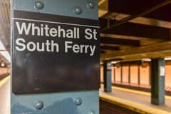 Whitehall Street Subway Station Royalty Free Stock Images