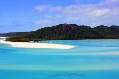 Whitehave海滩昆士兰澳大利亚 库存照片