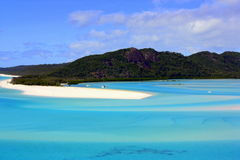 Whitehave strand Queensland Australien Arkivfoton