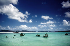 Whitehaven海滩在澳大利亚 免版税库存图片