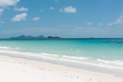 Whitehaven海滩, Whitsunday海岛,昆士兰,澳大利亚 免版税库存照片