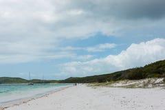 Whitehaven海滩, Whitsunday海岛,昆士兰,澳大利亚 图库摄影