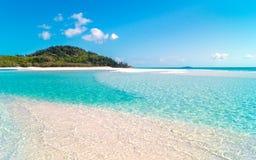 海滩whitehaven 库存照片