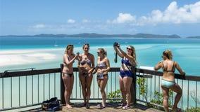 Whitehaven Beach, Australia. Colors of Whitehaven Beach in Queensland, Australia Stock Photo