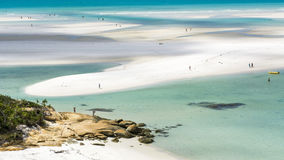 Whitehaven Beach, Australia. Colors of Whitehaven Beach in Queensland, Australia Royalty Free Stock Image