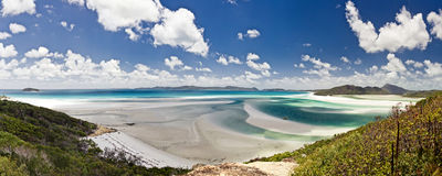 Whitehaven beach in Australia Royalty Free Stock Photo
