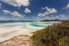 Whitehaven beach in Australia. Whitehaven Beach in the Whitsundays Archipelago, Queensland, Australia Stock Image