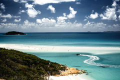 Whitehaven beach in Australia Royalty Free Stock Photos