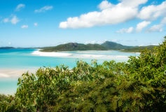 Whitehaven Beach, Australia. Whitehaven Beach in the Whitsundays Archipelago, Queensland, Australia Stock Photo