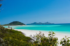 Whitehaven Beach III. Perfect stretch of Whitehaven Beach, Australia stock image