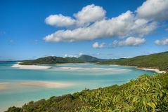 Whitehaven Beach, Queensland. Overview of Whitehaven Beach Area in the Whitsundays Archipelago, East Australia Stock Images
