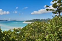 Whitehaven Beach, Queensland, Australia. Overview of Whitehaven Beach Area in the Whitsundays Archipelago, East Australia Royalty Free Stock Photos