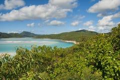 Whitehaven Beach, Queensland, Australia. Overview of Whitehaven Beach Area in the Whitsundays Archipelago, East Australia Royalty Free Stock Image