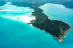 Whitehaven beach, Queensland. Whitehaven beach in the Whitsundays, Queensland. Aerial view, Australia Stock Images