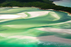 Whitehaven Beach. Scenic flight over Whitehaven Beach of the Whitsunday Islands Royalty Free Stock Photo