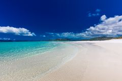 Whitehaven Beach with white sand in the Whitsunday Islands, Quee Stock Photo