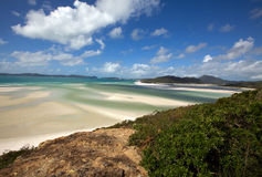 Whitehaven Beach. White beach on Whitsunday Iceland Stock Photography