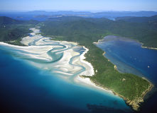 Whitehaven beach. In the Whitsunday island group.Queensland, Australia Royalty Free Stock Images
