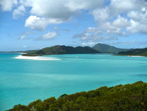 Whitehaven Beach Whitsunday Islands Australia. A view of the Lagoon from Whitehaven Beach in the Whitsunday Islands National Park Royalty Free Stock Photos