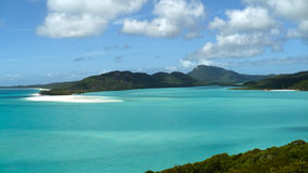 Whitehaven Beach Whitsunday Islands Australia. A view of the Lagoon from Whitehaven Beach in the Whitsunday Islands National Park Royalty Free Stock Image