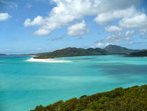 Whitehaven Beach Whitsunday Islands Australia. A view of the Lagoon from Whitehaven Beach in the Whitsunday Islands National Park Royalty Free Stock Photography