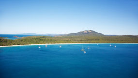 Whitehaven Beach Whitsundays. Aerial of Whitehaven Beach in the Whitsundays, Queensland Australia Stock Image