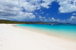 Whitehaven Beach in the Whitsundays. The amazing blue water of Whitehaven Beach in the Whitsundays is a very popular tourist location in Queensland, Australia Royalty Free Stock Photos