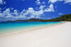 Whitehaven Beach in the Whitsundays. The amazing blue water of Whitehaven Beach in the Whitsundays is a very popular tourist location in Queensland, Australia Stock Photography