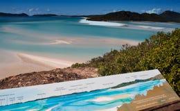 Whitehaven Beach, Australia. Whitehaven Beach in the Whitsundays Archipelago, Queensland, Australia Royalty Free Stock Image