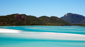 Whitehaven Beach Whitsundays. Pure white sand and tropical turquoise sea of world famous Whitehaven Beach Whitsundays, Australia Royalty Free Stock Photo