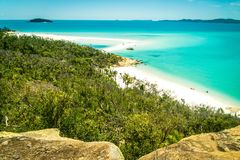 Whitehaven beach in the Whitsundays, Queensland, Australia stock images