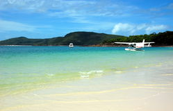 Whitehaven Beach in Whitsundays, Queensland, Australia. Royalty Free Stock Photos