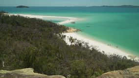 Whitehaven beach in the Whitsundays, Queensland, Australia stock video