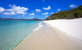 Whitehaven Beach Whitsundays. Whitehaven Beach in the Whitsunday islands in Australia Royalty Free Stock Photos