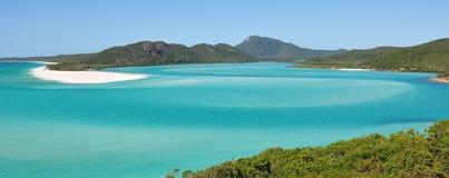Whitehaven plaża na Wielkiej bariery rafie w Australia Zdjęcie Royalty Free