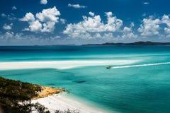 Whitehaven plaża w Australia Zdjęcia Royalty Free
