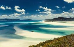 Whitehaven strand i Australien Arkivbilder