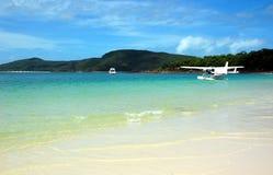 Whitehaven strand i pingstdagar, Queensland, Australien. royaltyfria foton