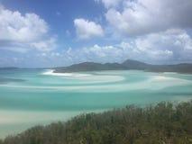 Whitehaven strand, pingstdagöar Arkivfoton