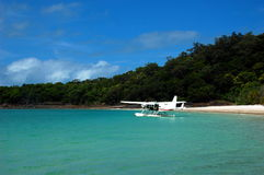 Пляж Whitehaven в Whitsundays, Квинсленде, Австралии. Стоковые Фотографии RF